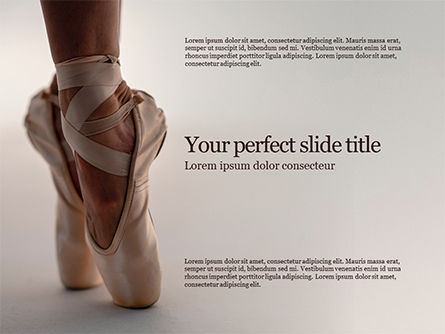 Art & Entertainment: Persoon In Balletschoenen PowerPoint Template #15723