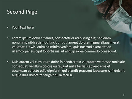 Surgeon's Face PowerPoint Template, Slide 2, 15727, Medical — PoweredTemplate.com