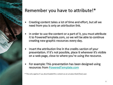 Surgeon's Face PowerPoint Template, Slide 3, 15727, Medical — PoweredTemplate.com