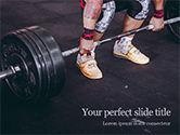 People: Modelo do PowerPoint - retrato do close up do exercício profissional do halterofilista com barbell #15730
