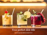 Food & Beverage: Templat PowerPoint Gratis Tiga Koktail Tropis #15733