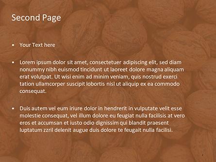 Walnuts PowerPoint Template, Slide 2, 15743, Food & Beverage — PoweredTemplate.com