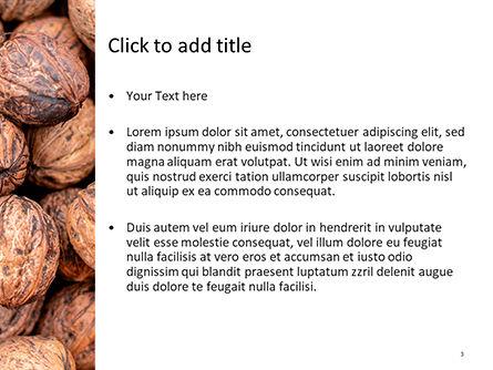 Walnuts PowerPoint Template, Slide 3, 15743, Food & Beverage — PoweredTemplate.com
