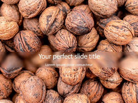 Food & Beverage: Walnuts PowerPoint Template #15743
