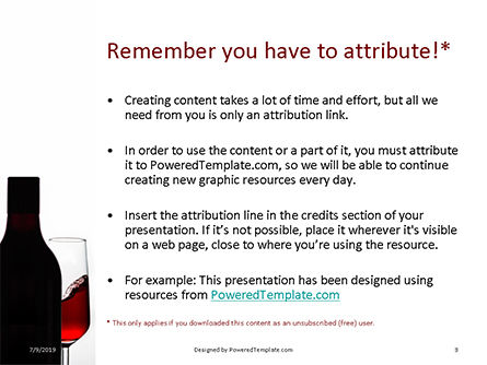 Bottle of Red Wine and Half Full Glass on White Background PowerPoint Template, Slide 3, 15747, Food & Beverage — PoweredTemplate.com