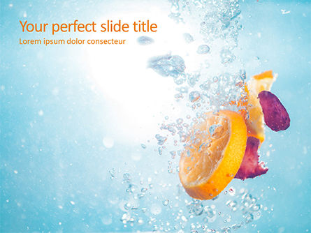 Food & Beverage: Slices of Fruits in Water PowerPoint Template #15753