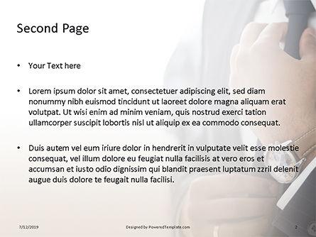 A Businessman Straightens His Tie Presentation, Slide 2, 15756, Business — PoweredTemplate.com