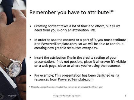 A Businessman Straightens His Tie Presentation, Slide 3, 15756, Business — PoweredTemplate.com