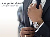 Business: A Businessman Straightens His Tie Presentation #15756