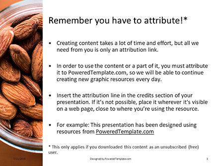 Top View of Glass Bowl Full of Almonds Presentation, Slide 3, 15760, Food & Beverage — PoweredTemplate.com