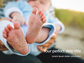 People: Closeup View of Baby's Toes on Bare Feet Presentation #15761