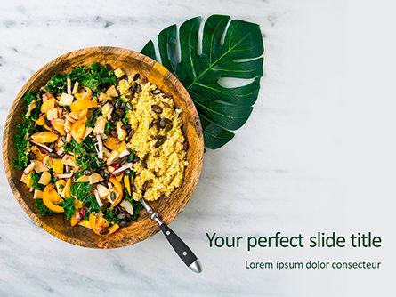 Food & Beverage: Modelo do PowerPoint - salada de sementes de quinoa e legumes #15764