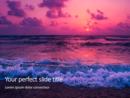 Nature & Environment: Mysterious Colorful Sea Sunset Presentation #15771