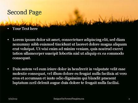 Silhouette of Little Boy Reading the Book Presentation, Slide 2, 15775, Education & Training — PoweredTemplate.com