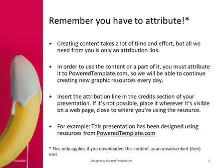 Cream-Dipped Unpeeled Banana Presentation, Slide 3, 15785, Food & Beverage — PoweredTemplate.com
