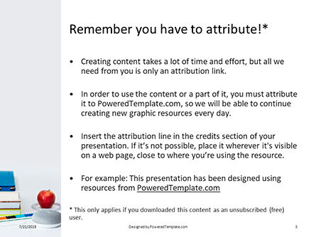 Stack of Books with Tablet PC and Apple Presentation, Slide 3, 15787, Education & Training — PoweredTemplate.com