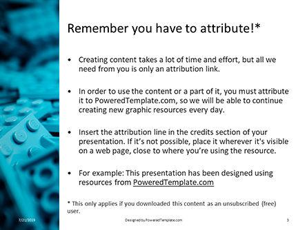 Scattered Blue Blocks of Building Kit Presentation, Slide 3, 15788, Education & Training — PoweredTemplate.com