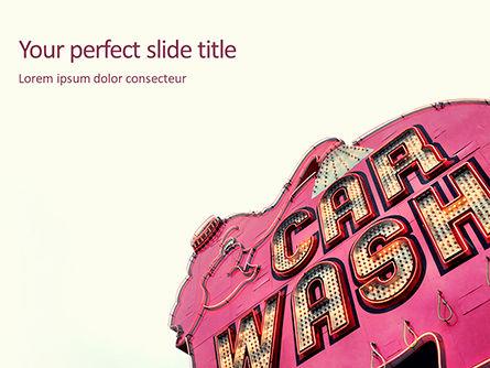 Careers/Industry: 洗車看板 - PowerPointテンプレート #15789