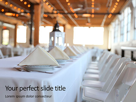 Careers/Industry: Modello PowerPoint - Lungo tavolo servito per banchetti #15790