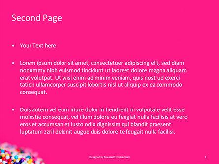 Closeup Spoon with Colored Sugar Balls Presentation, Slide 2, 15794, Food & Beverage — PoweredTemplate.com