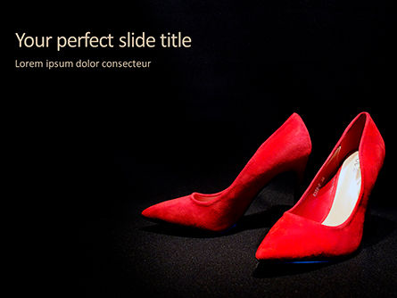 Careers/Industry: Red High Heel Women Shoes Presentation #15798