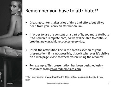Sexy Blonde Sits on a Chair Presentation, Slide 3, 15799, People — PoweredTemplate.com
