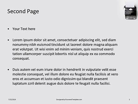 Old Typewriter Presentation, Slide 2, 15800, Careers/Industry — PoweredTemplate.com