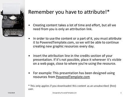 Old Typewriter Presentation, Slide 3, 15800, Careers/Industry — PoweredTemplate.com