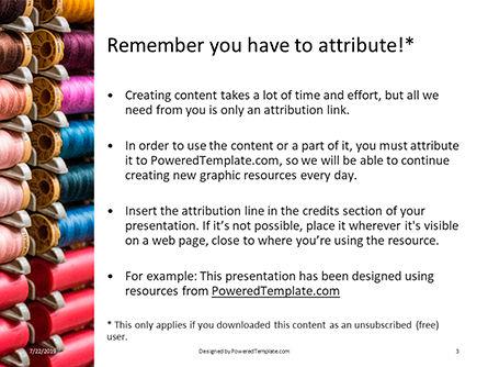 Spools of Multi-Colored Threads Presentation, Slide 3, 15802, Careers/Industry — PoweredTemplate.com