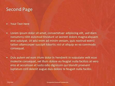 Two Sliced Citrus Fruits Presentation, Slide 2, 15805, Food & Beverage — PoweredTemplate.com