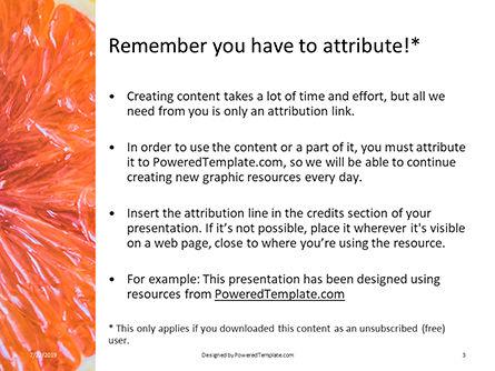 Two Sliced Citrus Fruits Presentation, Slide 3, 15805, Food & Beverage — PoweredTemplate.com