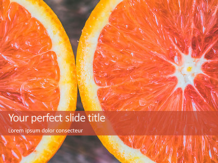 Food & Beverage: Two Sliced Citrus Fruits Presentation #15805