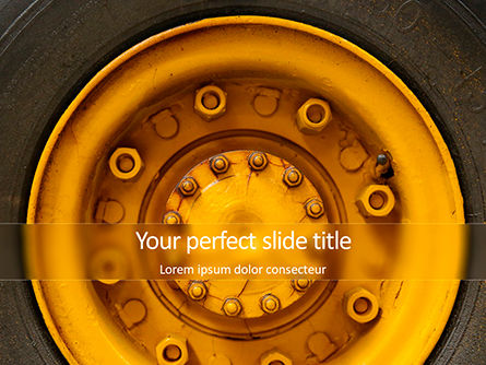 Cars and Transportation: Closeup Photo of Yellow Vehicle Wheel with Tire Presentation #15822