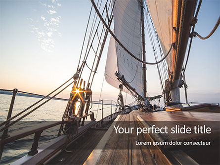 Sports: Sailboat Deck on Sunset Presentation #15836