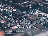 Technology and Science: Modelo do PowerPoint - microchips na placa de circuito eletrônico #15838