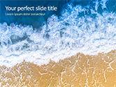 Nature & Environment: Modelo de PowerPoint Grátis - vista aérea da praia e do oceano com ondas #15846