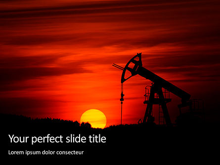 Utilities/Industrial: Oilfield Silhouette on Sunset Presentation #15849