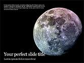 Nature & Environment: Modelo do PowerPoint - satélite natural da terra #15852