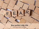 Medical: Modelo de PowerPoint Grátis - medo - cubos com letras #15853