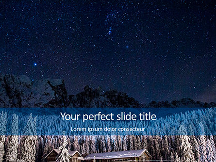 Nature & Environment: Night Sky Over a Snowy Forest Presentation #15860