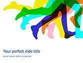 Sports: Modelo de PowerPoint Grátis - silhuetas de pernas de corredores #15872