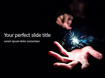 Art & Entertainment: Persoon Bedrijf Sparkler PowerPoint Template #15898