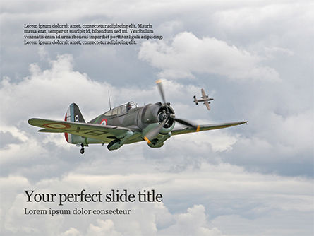 Military: Modello PowerPoint Gratis - Il falco di curtiss p-36 volò in aria #15909