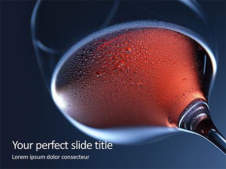 Food & Beverage: Templat PowerPoint Gelas Dengan Anggur Merah #15920