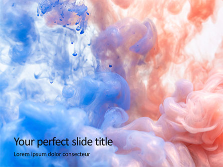 Abstract/Textures: Templat PowerPoint Gratis Awan Warna #15923