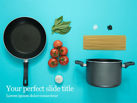 Careers/Industry: Cooking Pot and Frying Pan with Tomatoes Presentation #15937
