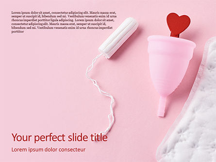 Medical: Sanitary Pad Menstrual Cup Tampon and Red Heart Presentation #15939