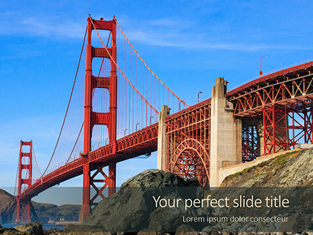 Construction: Modello PowerPoint - Golden gate bridge #15952