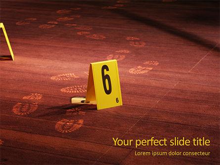 Legal: Modèle PowerPoint gratuit de enquête sur les lieux du crime #15955