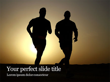 Sports: Running People Silhouettes Presentation #15962